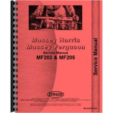 Massey Ferguson 203 Industrial Tractor Service Manual