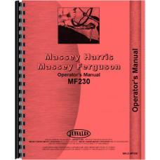 Massey Ferguson 230 Tractor Operators Manual (SN# 9A349200 and Up) (9A349200+)