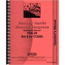 Ferguson TEA20 Tractor Operators Manual (SN# 0-172500) (0 to 172500)