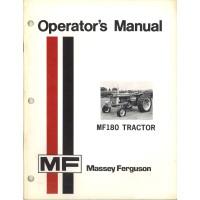 Massey Ferguson 180 Tractor Operator's Manual