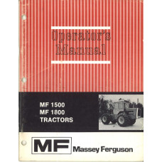 Massey Ferguson 1800 Tractor Operator's Manual