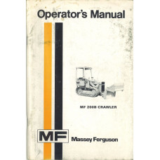 Massey Ferguson 200B Crawler Operator's Manual