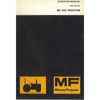 Massey Ferguson 20C Industrial Tractor Operator's Manual (NOS, Industrial)