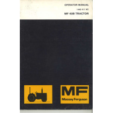 Massey Ferguson 40B Industrial Tractor Operator's Manual (NOS, Industrial)