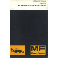 Massey Ferguson 40B Industrial Tractor Operator's Manual