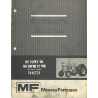 Massey Ferguson Super 90 WR Tractor Operator's Manual (Gas & Diesel)