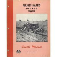 Massey Harris 444 Tractor Operator's Manual (Diesel w/PSB Pump)