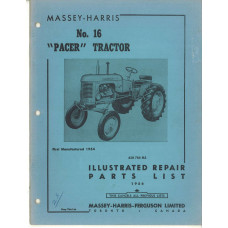 Massey Harris Pacer Tractor Parts Manual (No. 16)