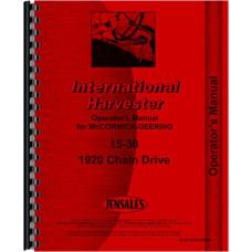 Mccormick Deering 15-30 Tractor Operators Manual (1920)