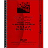 Mccormick Deering 15-30 Tractor Operators Manual (1930 up) (1930+)