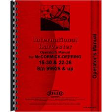 Mccormick Deering 22-36 Tractor Operators Manual