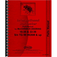 Mccormick Deering 15-30 Tractor Parts Manual (SN# 29 and Up, TG99926 and Up) (29+ and TG99926+)
