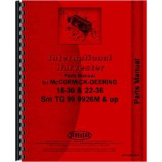 Mccormick Deering Tractor Parts Manual