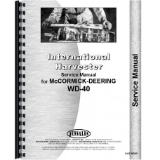 Mccormick Deering WD40 Tractor Service Manual