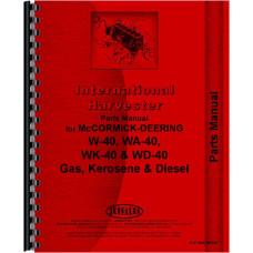 Mccormick Deering Tractor Parts Manual (IH-P-W40,WD40)