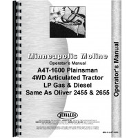 Minneapolis Moline A4T-1600 Tractor Operators Manual