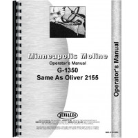 Minneapolis Moline G1350 Tractor Operators Manual