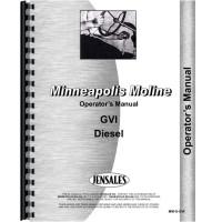 Minneapolis Moline GVI Tractor Operators Manual