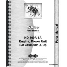 White HD 800A-6A Power Unit Parts Manual