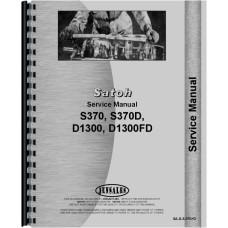Satoh S370, S370D Tractor Service Manual