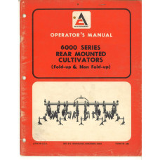 Allis Chalmers 6000 Cultivator Operator's Manual (TM495)