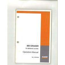 Case 885 Grader Operator's Manual (6-30442NA)