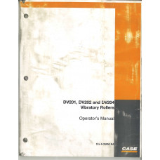 Case DV202 Vibratory Rollers Operator's Manual (6-35950NA)