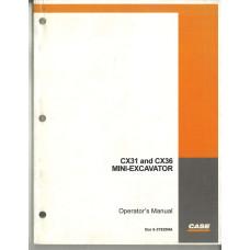 Case CX36 Excavator Operator's Manual (6-37920NA)
