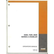 Case 650K Crawler Dozer Operator's Manual (6-85641NA)