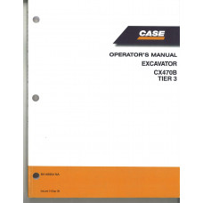 Case CX470B Excavator Operator's Manual (84146904NA)