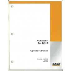 Case Ace/Ace+ for SV212 Vibratory Roller Operator's Manual (84287226)