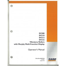 Case SV216 Vibratory Roller Operator's Manual (84287230)