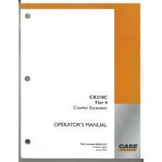Case CX210C Excavator Operator's Manual (84551237)