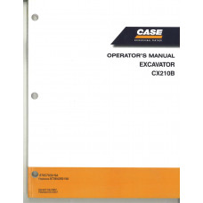 Case CX210B Excavator Operator's Manual (87364359NA)