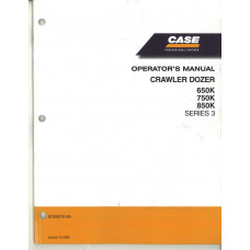 Case 850K Crawler Dozer Operator's Manual (87592079NA)