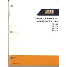 Case SV208 Vibratory Roller Operator's Manual (87647832NA)