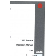 Case 1090 Tractor Operator's Manual (92832)