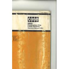 Case 580D Tractor Loader Backhoe Operator's Manual (9-6621)