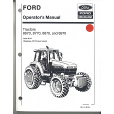 Ford 8870 Tractor Operator's Manual (42867042)