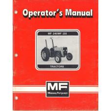 Massey Ferguson 250 Tractor Operator's Manual (NOS)