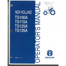 New Holland TS125A Tractor Operator's Manual (87037956)