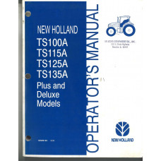 New Holland TS125A Tractor Operator's Manual (82999163)