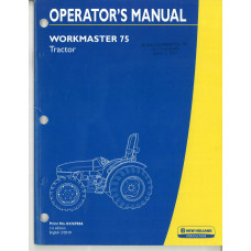 New Holland Workmaster 75 Tractor Operator's Manual (84269866)
