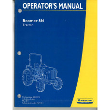 New Holland Boomer 8N Tractor Operator's Manual (84382273)