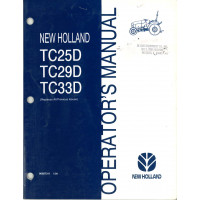 New Holland TC25D Tractor Operator's Manual (86587311)