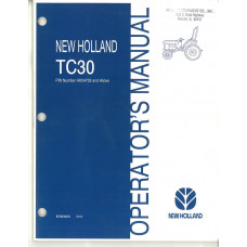New Holland TC30 Tractor Operator's Manual (87053423)
