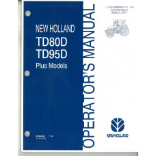 New Holland T80D Tractor Operator's Manual (87602302)