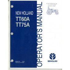 New Holland TT75A Tractor Operator's Manual (87621772)