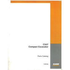 Case CX47 Excavator Parts Manual (7-8781NA)