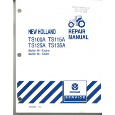 New Holland TS125A Tractor Service Manual (17 VOLUME MANUAL)